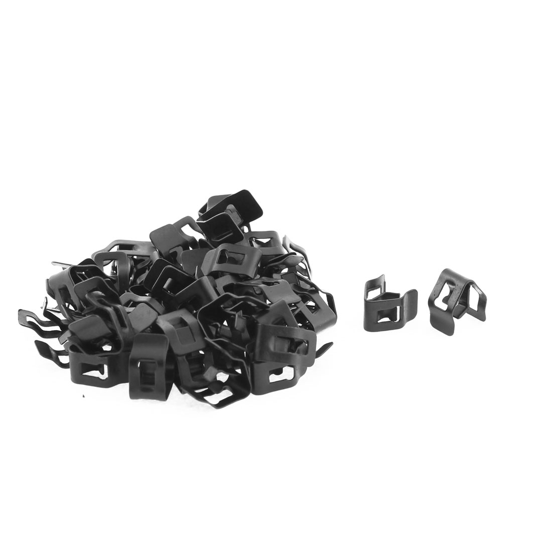 50Pcs Black Auto Car Dash Dashboard Metal Fastener