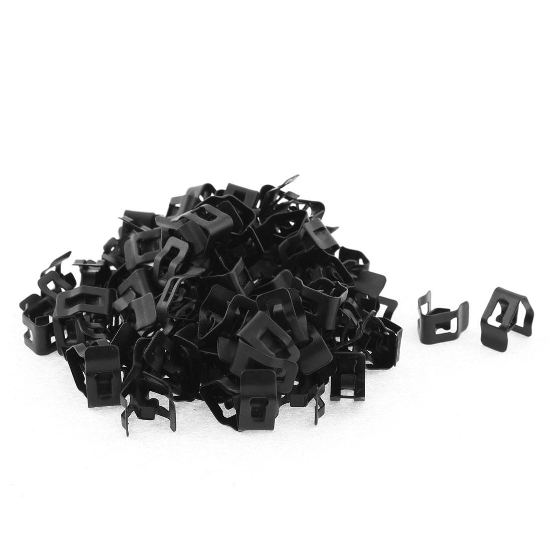100Pcs Black Auto Car Dash Dashboard Boot Metal Fastener