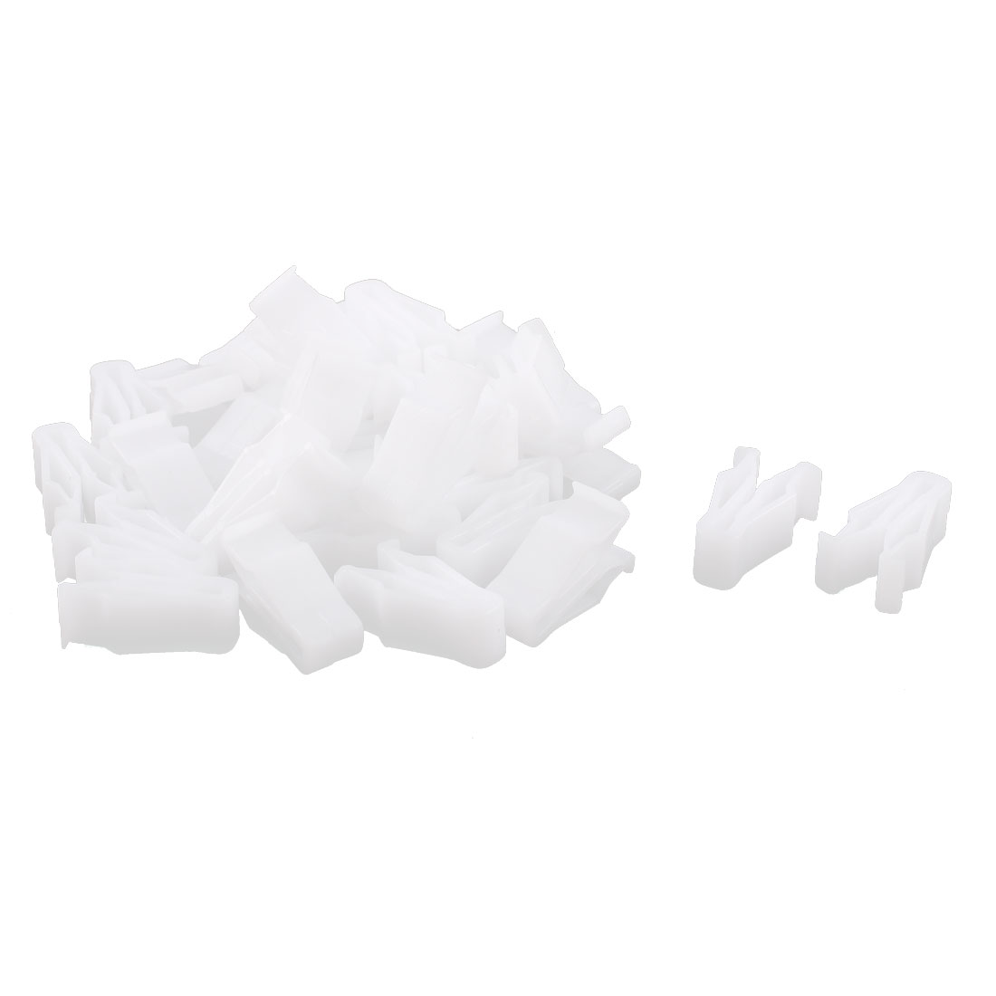 30Pcs Automobile Instrument Panel Dashboard Plastic Fastener Clips White