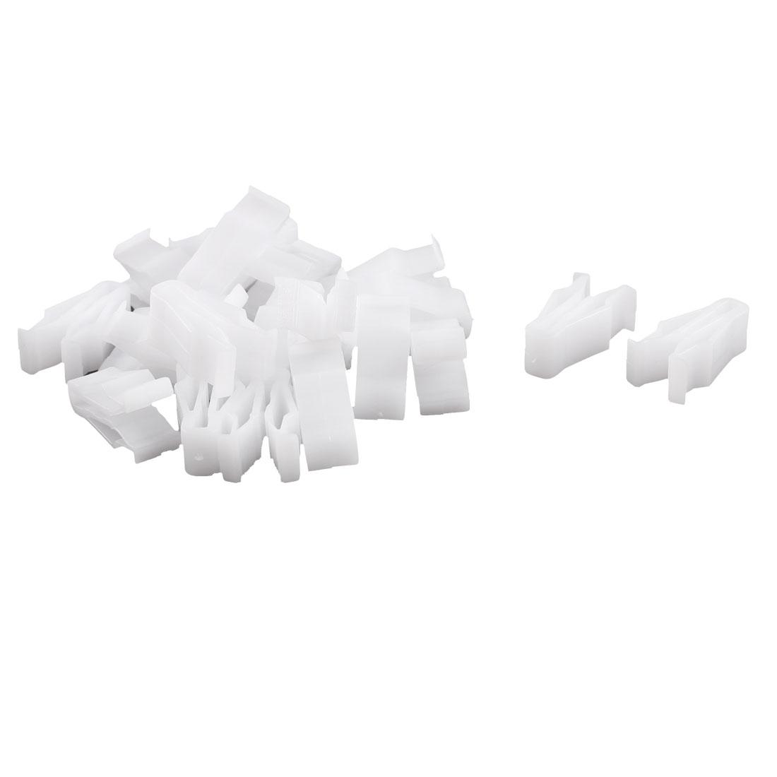 20Pcs Auto Trim Instrument Panel Dashboard Plastic Fastener White