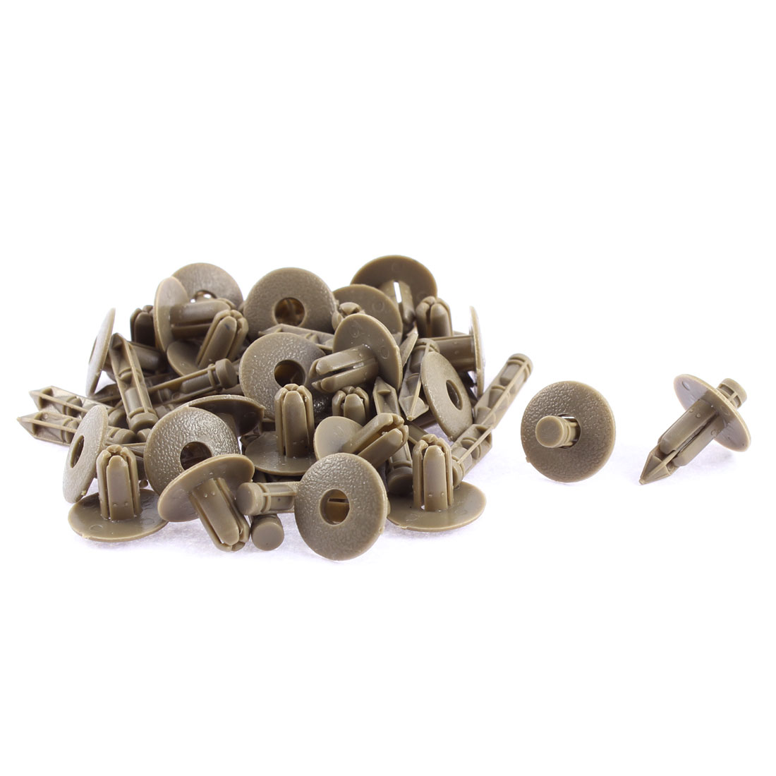30Pcs Taupe Auto Car Trunk Boot Bumper Retainer Rivet