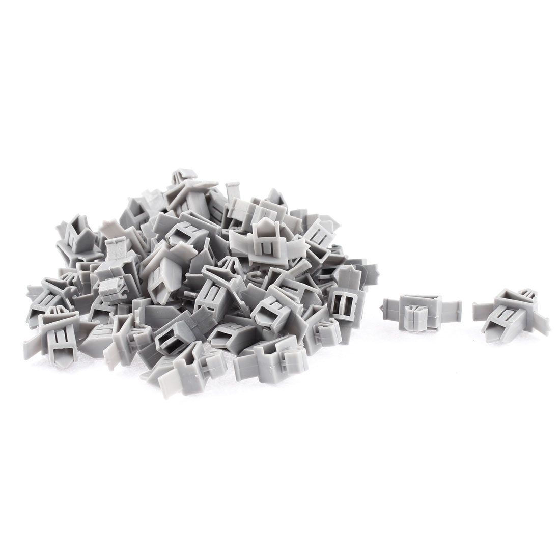 50 Pcs Gray Plastic Rivet Bumper Lining Trim Panel Retainer Fastener Clips for Toyota Prado