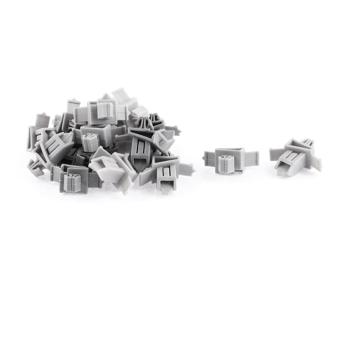 20 Pcs Gray Plastic Rivet Bumper Lining Trim Panel Retainer Fastener Clips for Toyota Prado