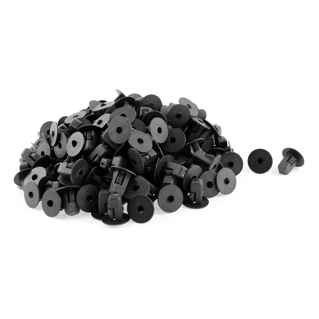 200Pcs Black Plastic Fender Bumper Boot Retainer Rivet for Toyota
