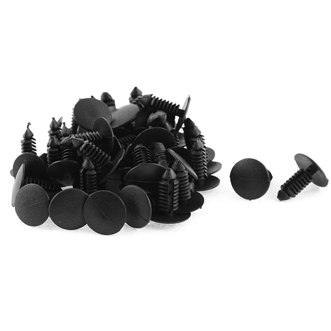 50 Pcs Car Trunk Boot Black Plastic Retainer Rivets for Chevrolet Hyundai