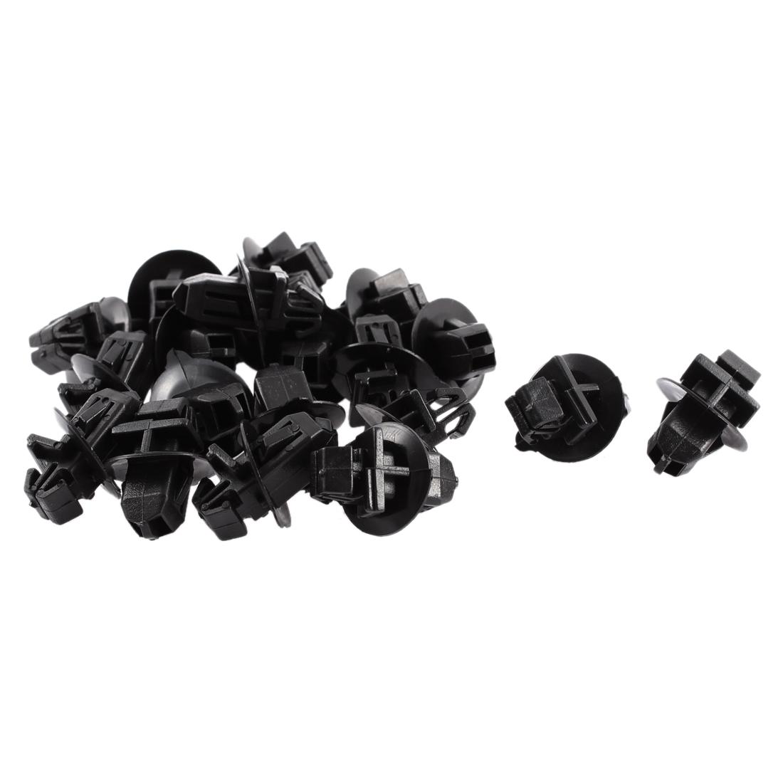 20 Pcs Black Plastic Rivet Bumper Lining Moulding Snap Clips for Toyota Prado