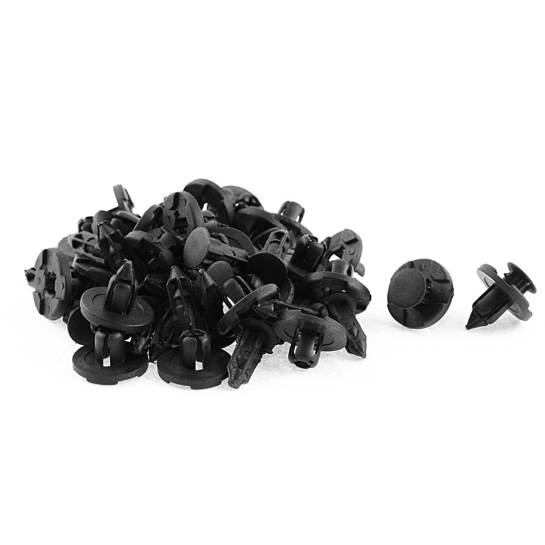 30 Pcs Black Plastic Rivet Bumper Lining Moulding Mat Clips for Nissan Teana Tiida