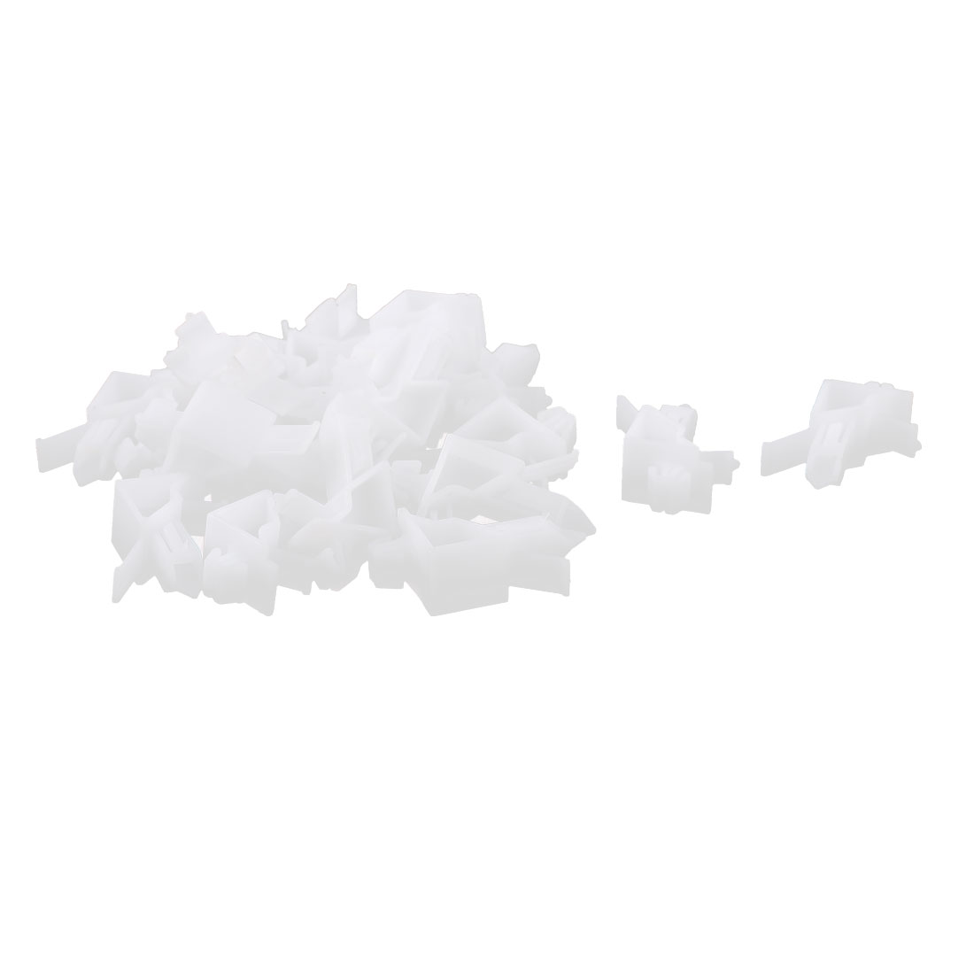 20 Pcs White Plastic Rivet Bumper Lining Trim Panel Retainer Fastener Clips for Toyota Prado