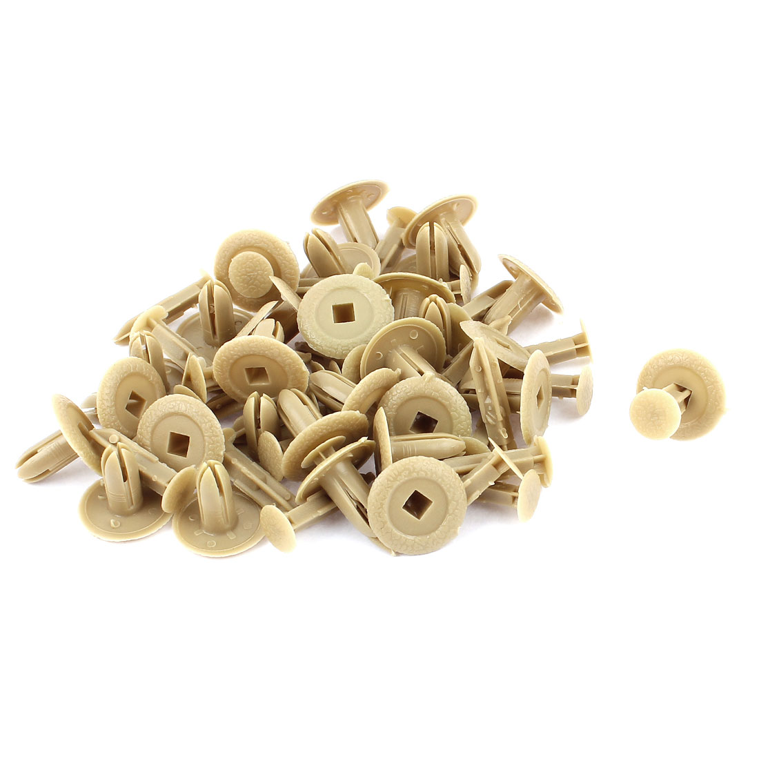 30 Pcs 18mm x 7mm Khaki Plastic Rivet Bumper Lining Trim Panel Fastener Clips for Mazda M3M6M2
