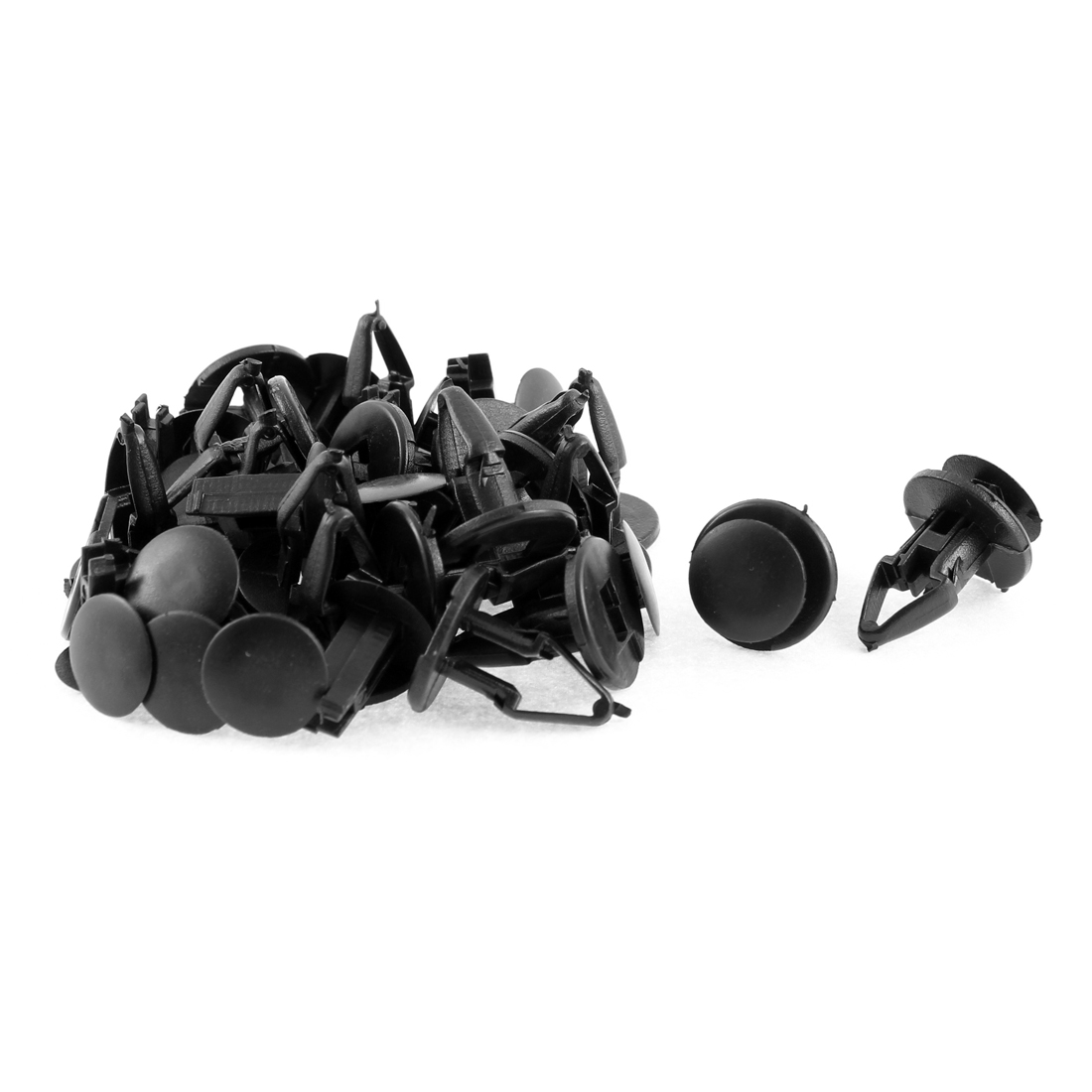 20 Pcs Black Plastic Rivet Bumper Door Interior Moulding Mat Clips for Ford Chevrolet