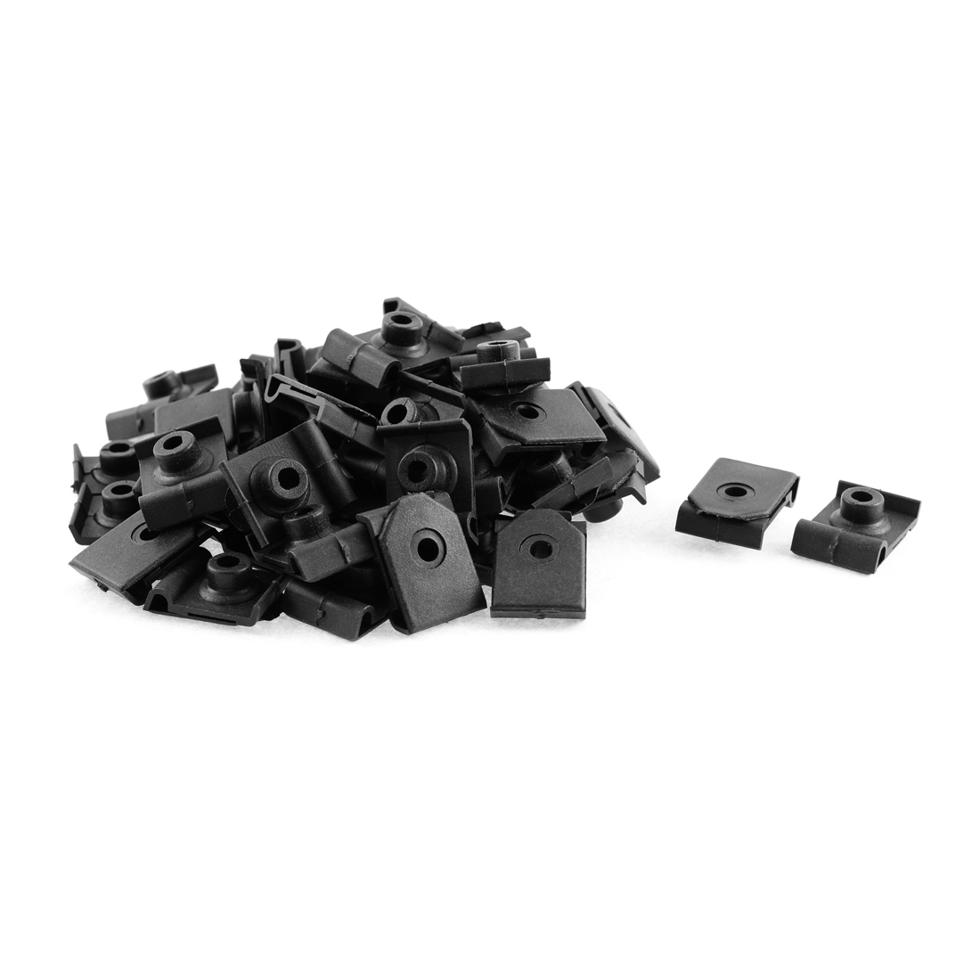 50 Pcs Black Plastic Rivet Bumper Lining Moulding Mat Clips for Toyota