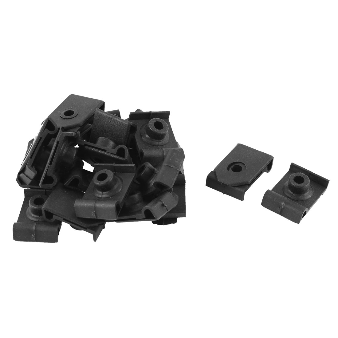 20 Pcs Black Plastic Rivet Bumper Lining Moulding Mat Clips for Toyota