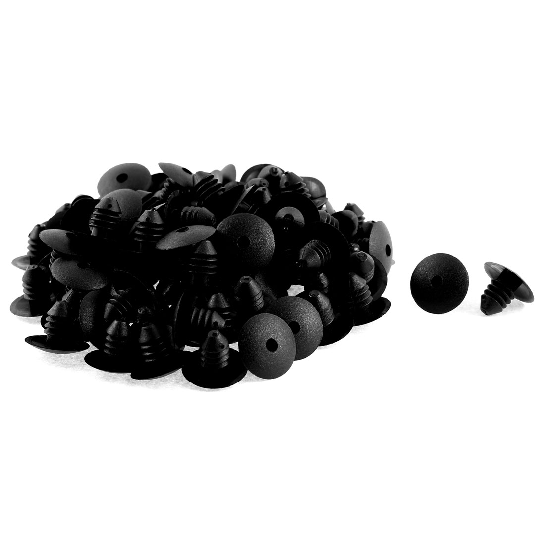 100 Pcs Black Plastic Rivet Carpet Floor Retainer Clips for Volkswagen Passat