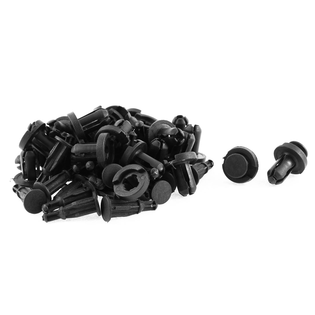 30 Pcs 20mm x 11mm Black Plastic Rivet Bumper Lining Trim Panel Retainer Fastener Clips