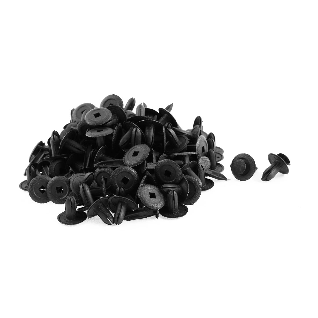 100 Pcs 18mm x 7mm Black Plastic Rivet Bumper Lining Trim Panel Retainer Fastener Clips for Mazda