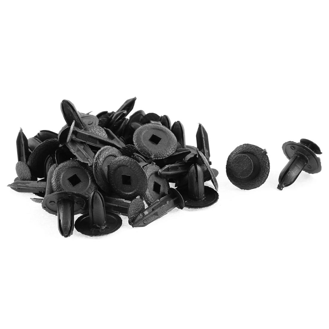 30 Pcs 18mm x 7mm Black Plastic Rivet Bumper Lining Trim Panel Fastener Clips for Mazda