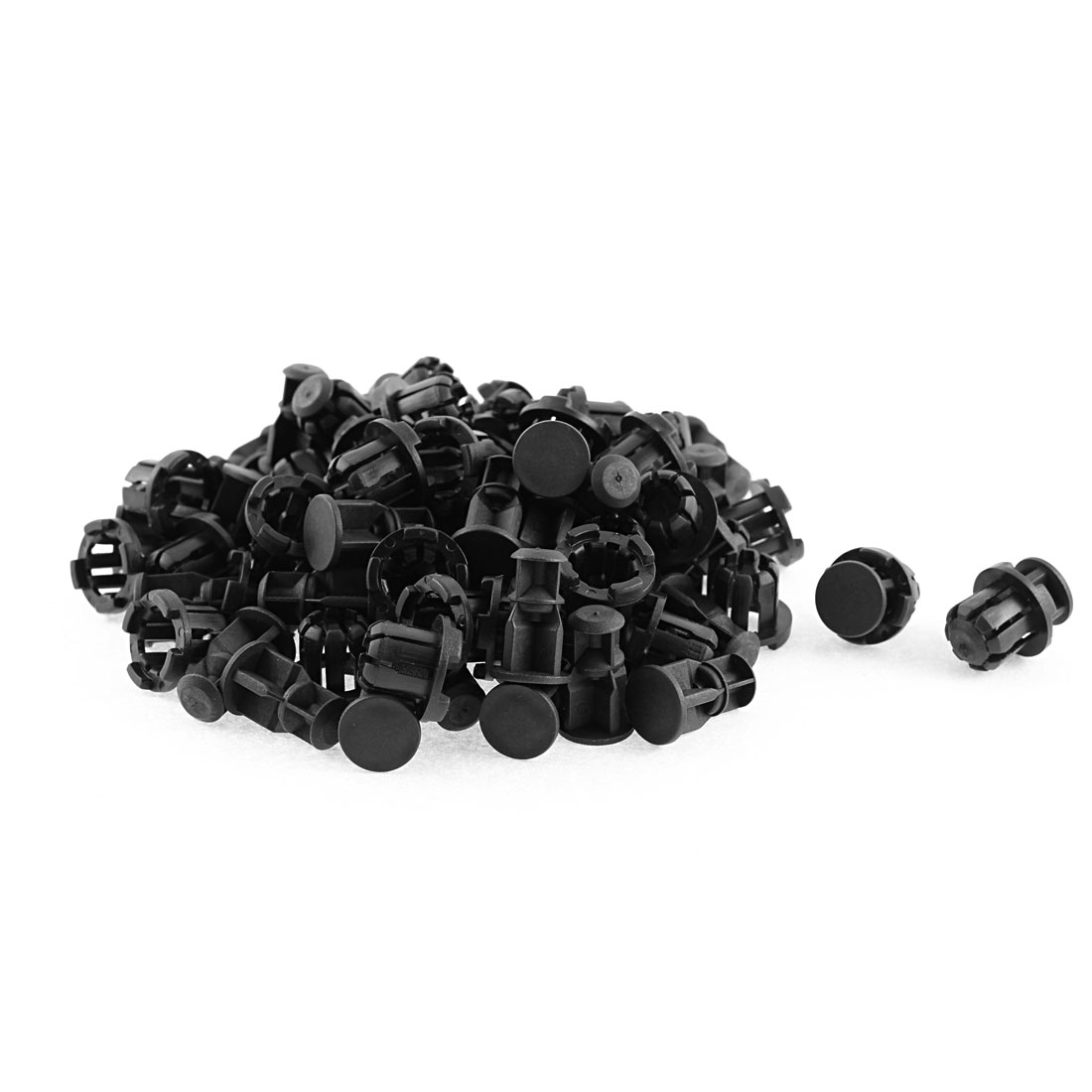 50 Pcs 21mm x 15mm Black Plastic Rivet Bumper Lining Trim Panel Retainer Fastener Clips