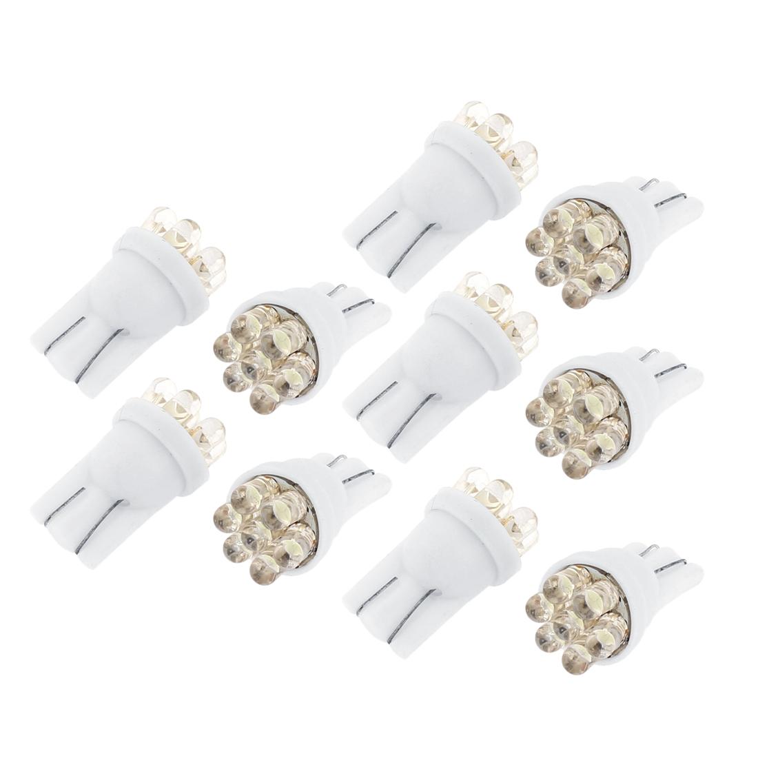 20 Pcs White T10 158 168 194 2825 7-LED Bulbs for Car License Plate Light Interior