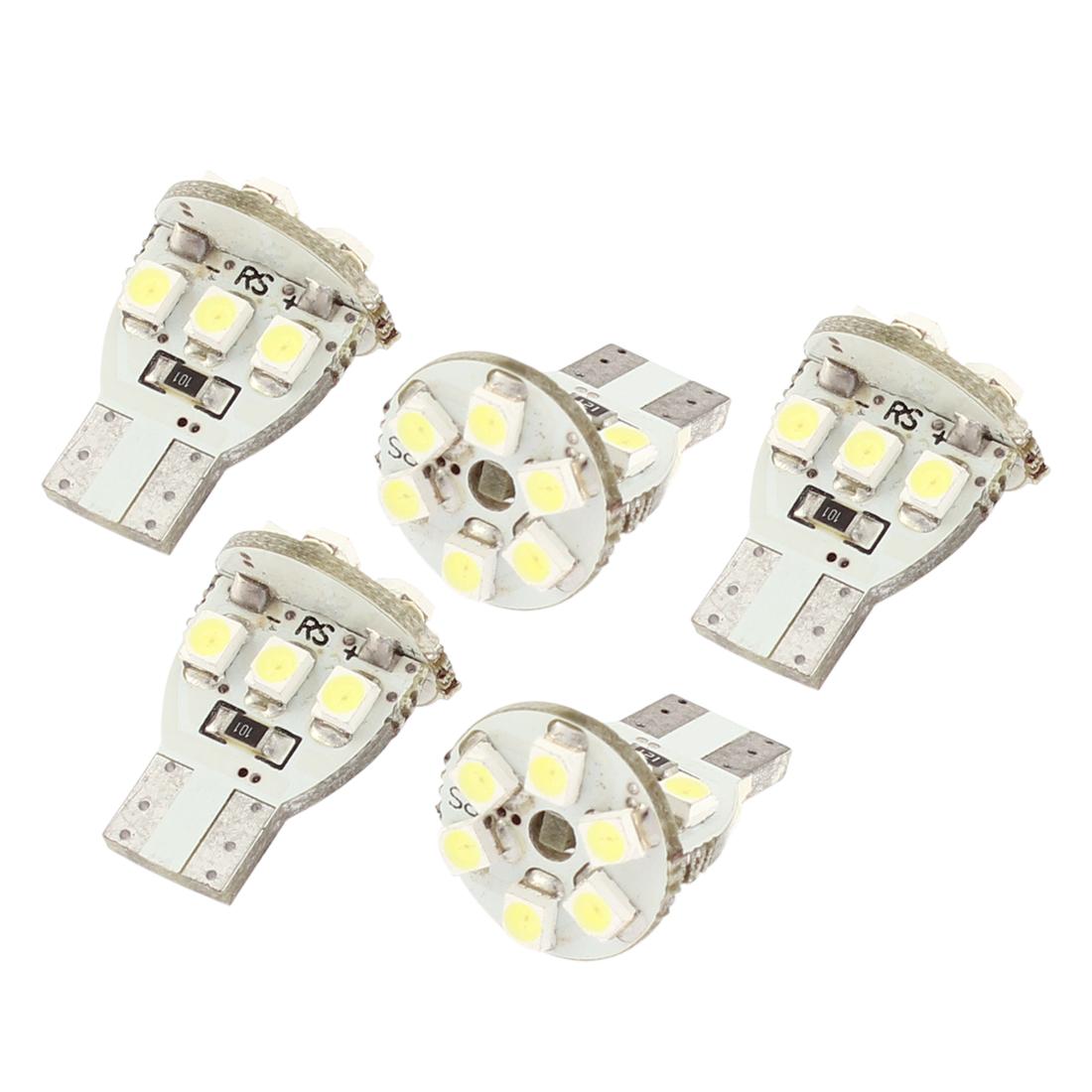 5 Pcs T10 194 White 1210 12-SMD LED Dashboard Light Signal Bulbs 12V Internal