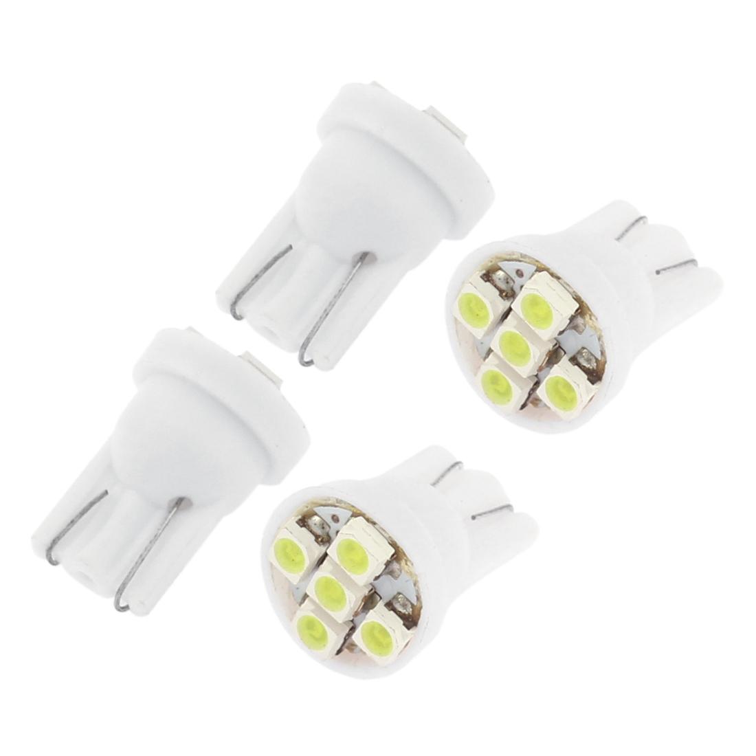 4 Pcs White T10 1210 SMD 5 LED 194 168 147 W5W 2652 2921 2825 Car Light Lamp Bulb Interior