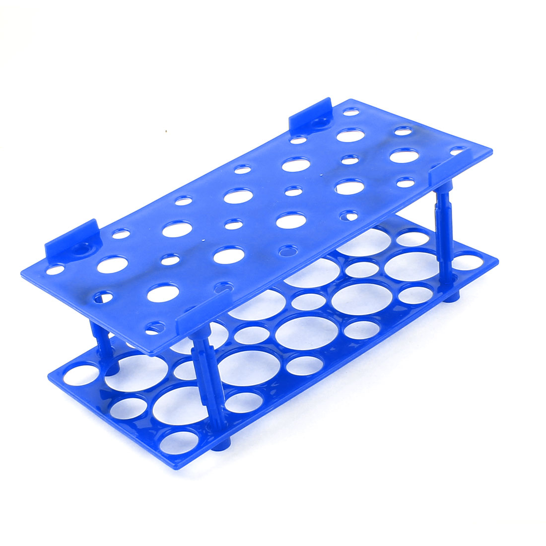 Blue Plastic 28 Holes Detachable Rack Holder Support Basket for 16-29mm Test Tubes