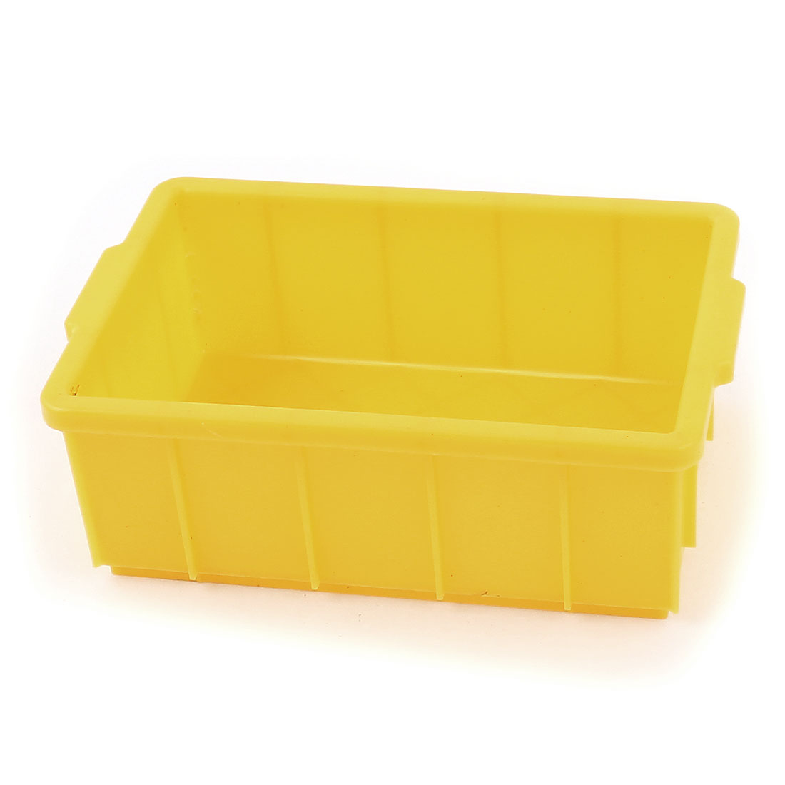 Yellow Plastic Rectangle Case IC Chip Container Electronic Component Storage Box 14.5 x 9 x 5.5cm
