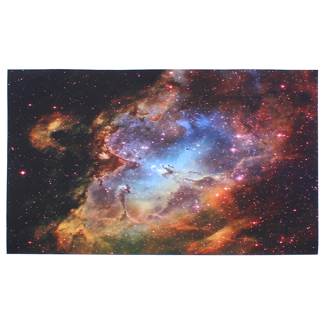 "Yellow Burgundy Galaxy Printed Self-adhesive Decal Sticker Decor for 15"" 15.4"" 15.6"" Laptop Notebook"