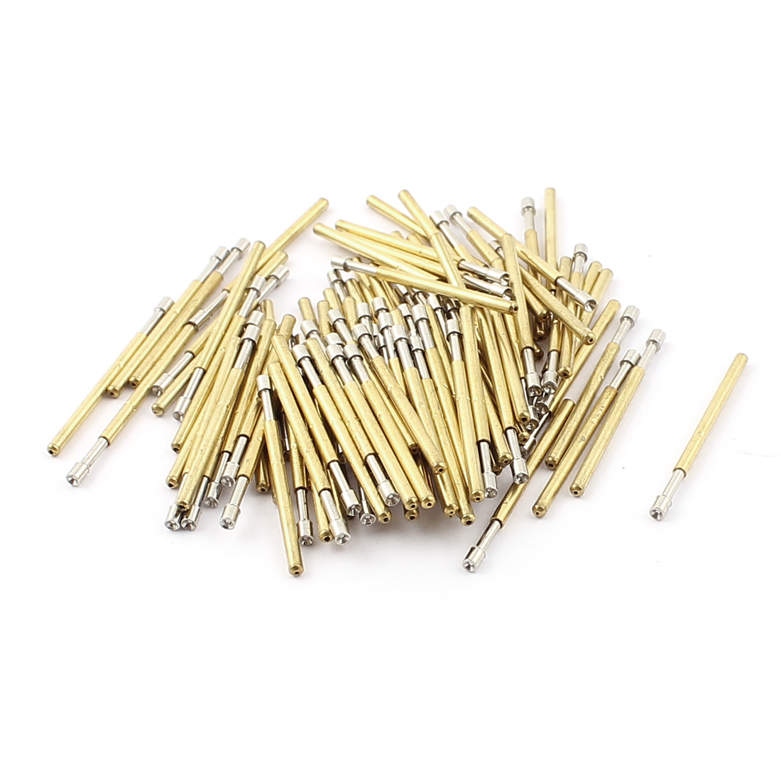 100 Pcs P160A 1.5mm Dia Concave Testing Tip Spring Loaded Test Probes Contact Pin 25mm Length