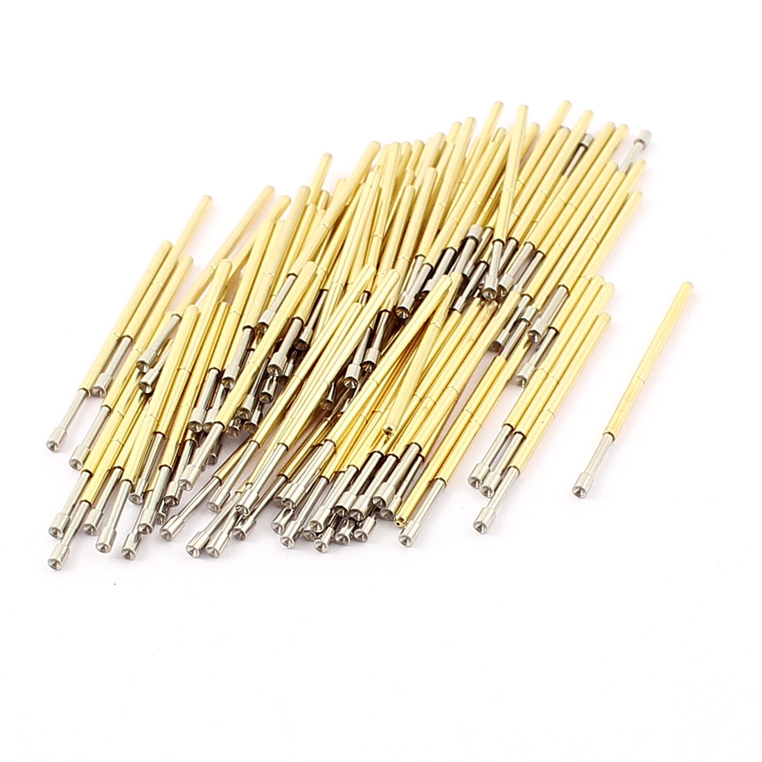 100Pcs P100A 1.5mm Dia Concave Test Tip Spring Loaded Testing Probes Contact Pin 33mm Length