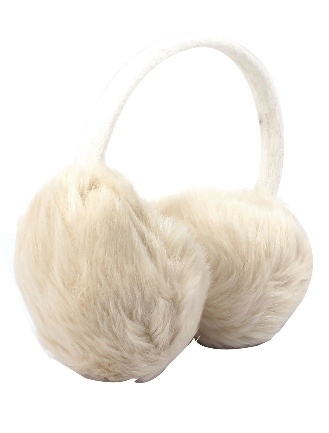 Girls Lady Winter Soft Plush Earmuffs Ear Warmers Earlap Headband Off White