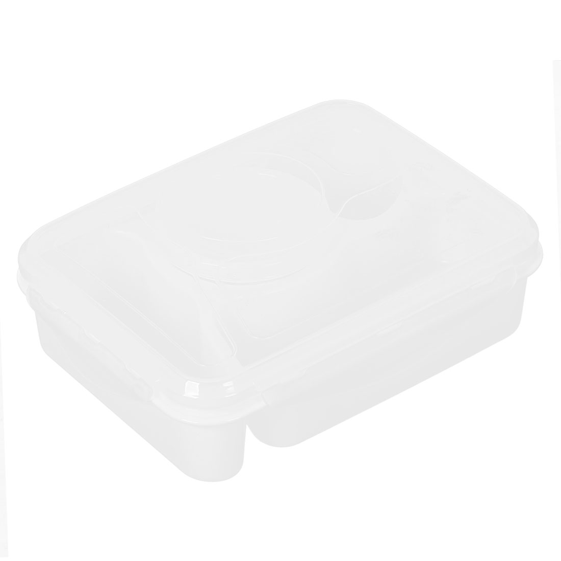 Microwave Plastic Bento Lunch Food Soup Box Container Case White w Spoon