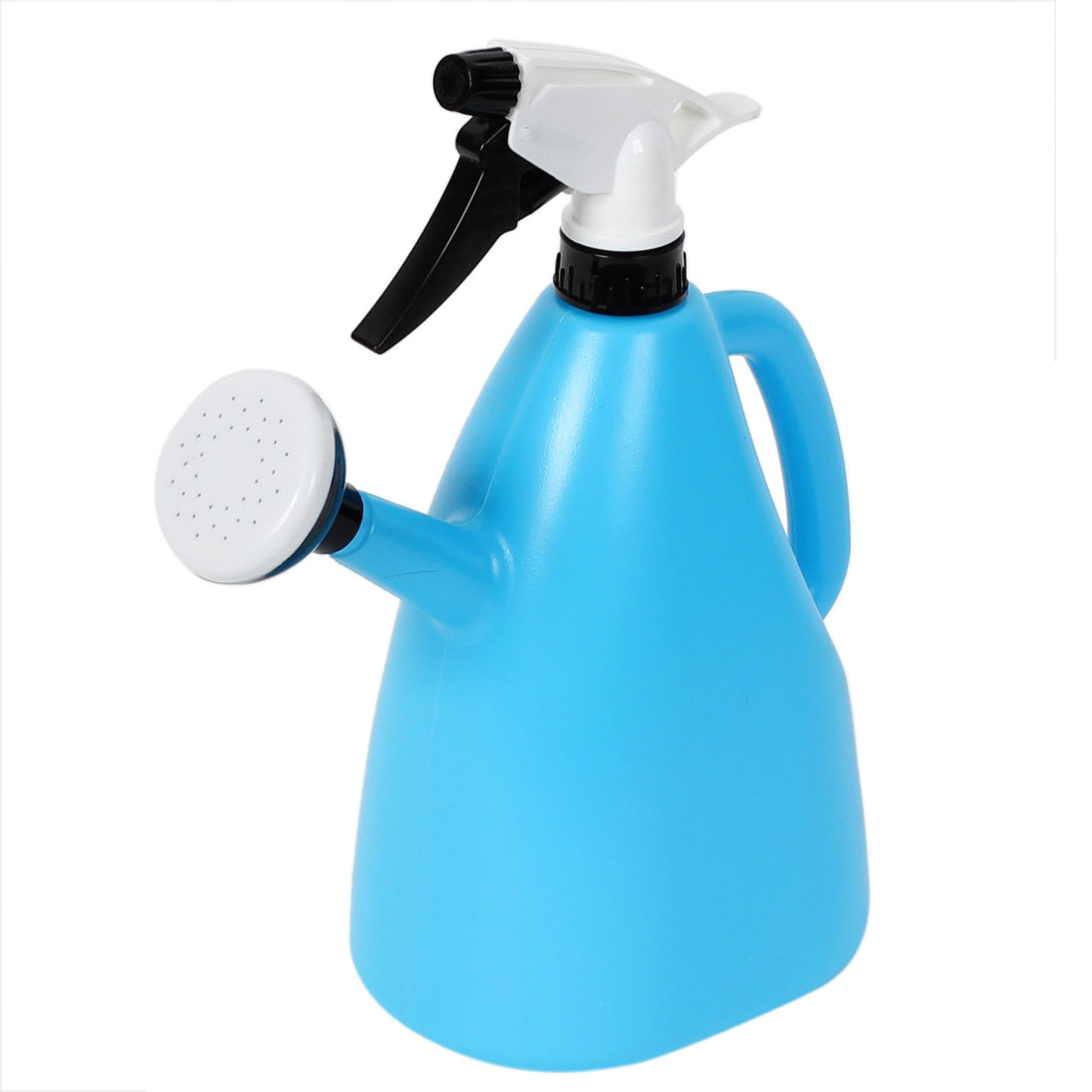 Garden Plastic Dual Nozzles Water Flower Trigger Spray Bottle Sprayer Sky Blue