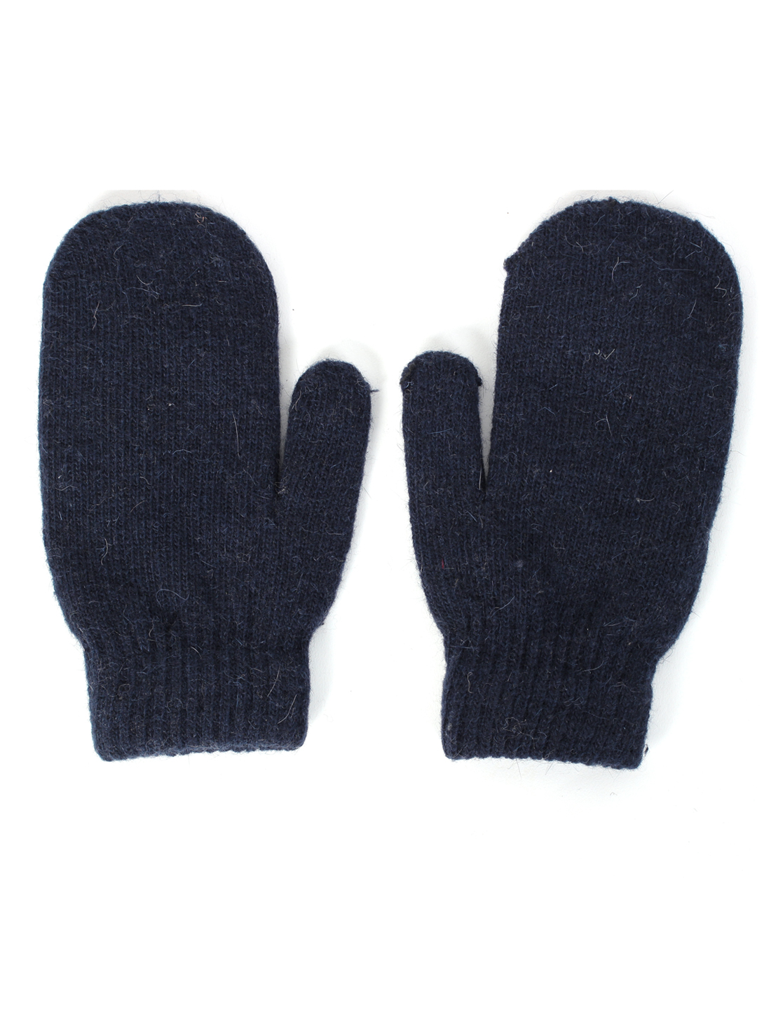 Winter Warmer stretchy Knitted Mitten Gloves Navy Blue Pair for Unisex