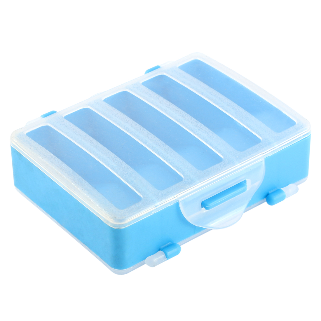 Plastic Dual Sides 10 Slots Fishing Angling Bait Storage Case Organizer