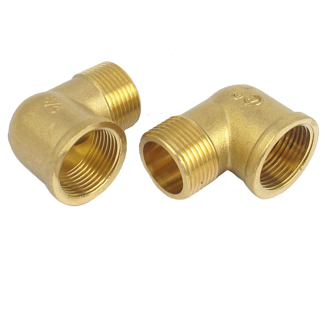 Brass Right Angle 3/4BSP Male to Female Elbow Connector Coupler Fitting Adapter 2PCS