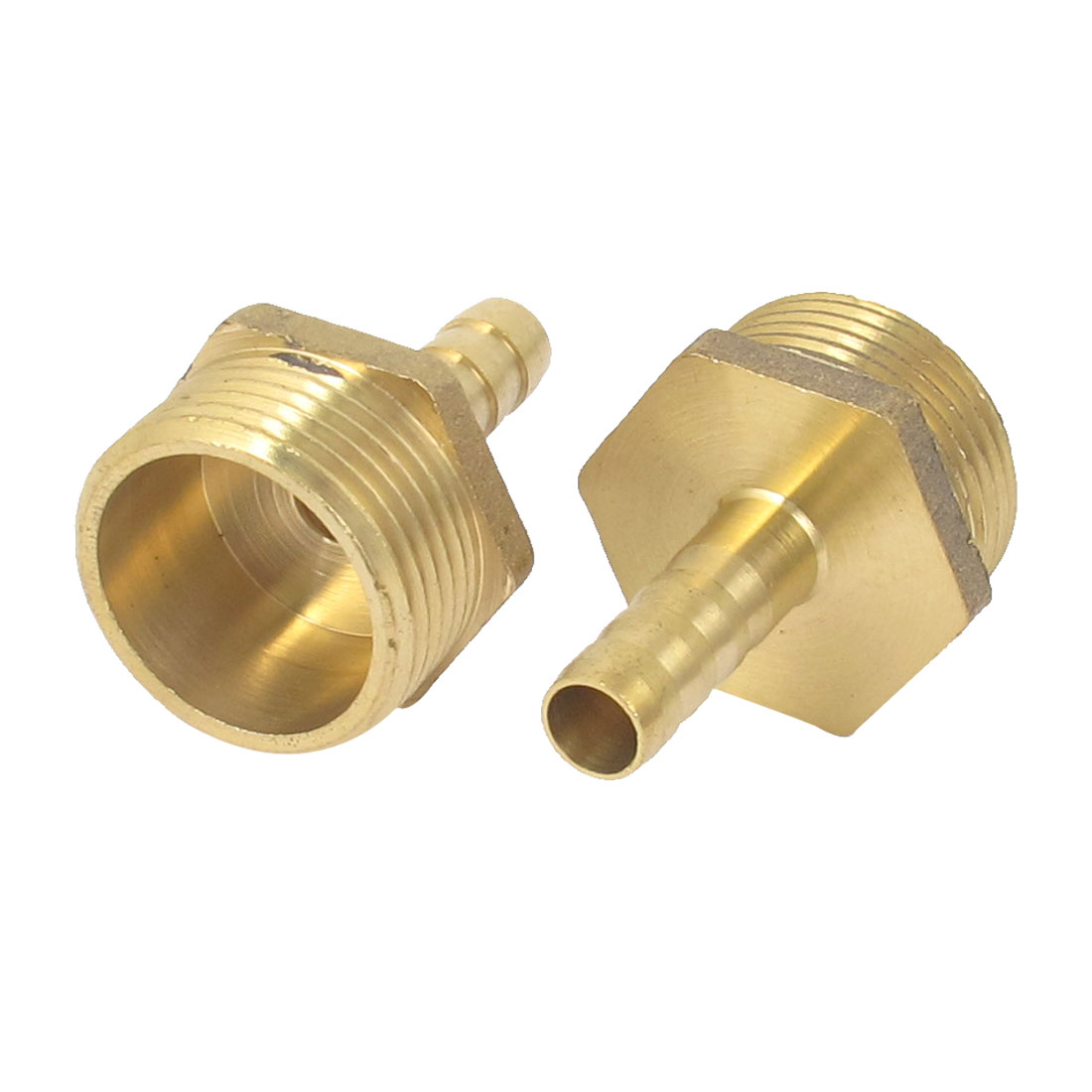 Brass 3/4BSP Male Thread to 8mm Hose Barb Straight Fitting Adapter Coupler 2PCS