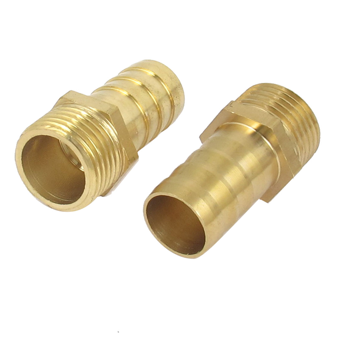 Brass 1/2BSP Male Thread to 16mm Hose Barb Straight Fitting Adapter Coupler 2PCS