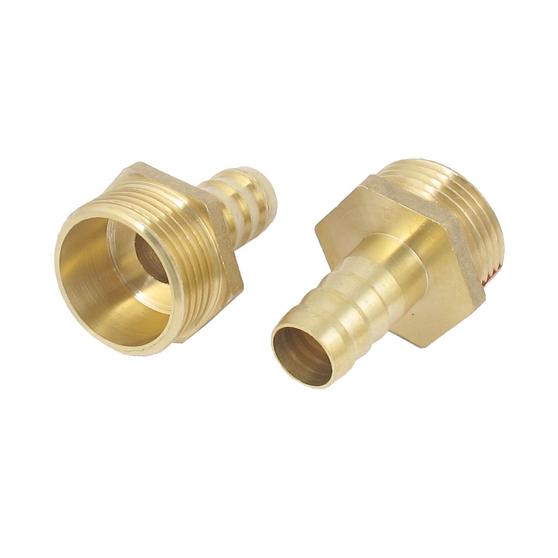 Brass 1BSP Male Thread to 16mm Hose Barb Straight Fitting Adapter Coupler 2 PCS