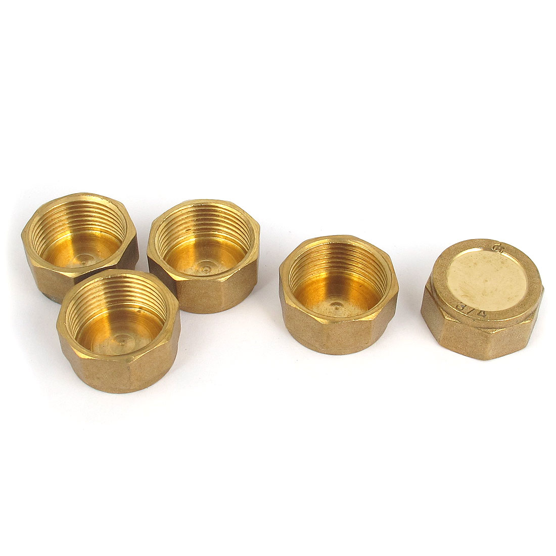 3/4BSP Female Thread Brass Pneumatic Air Head Pipe Connector Coupler Adaper 5pcs