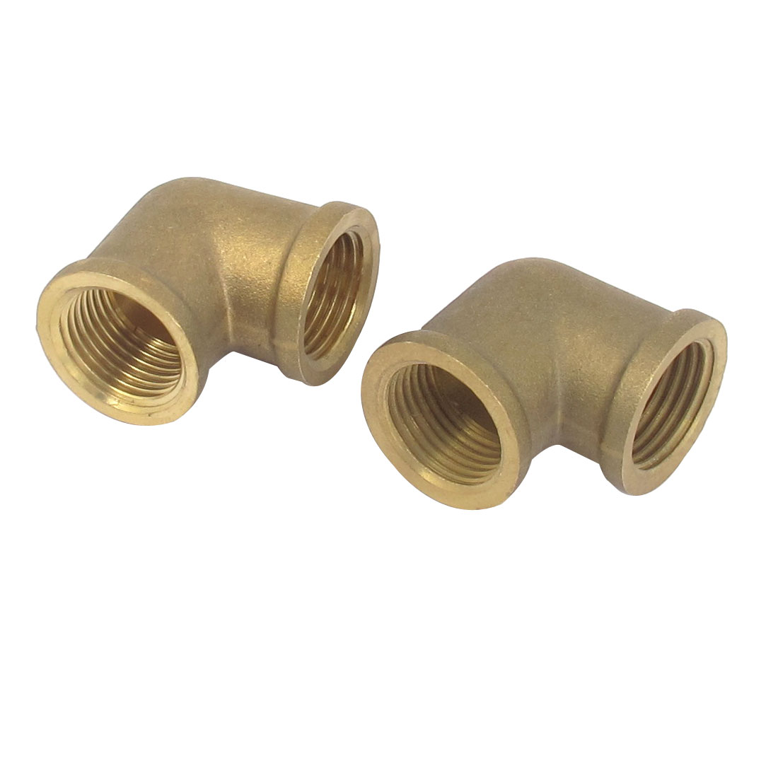 1/2BSP Female to Female Metal L Shape Elbow Hose Pipe Tube Fitting Connector 2pcs