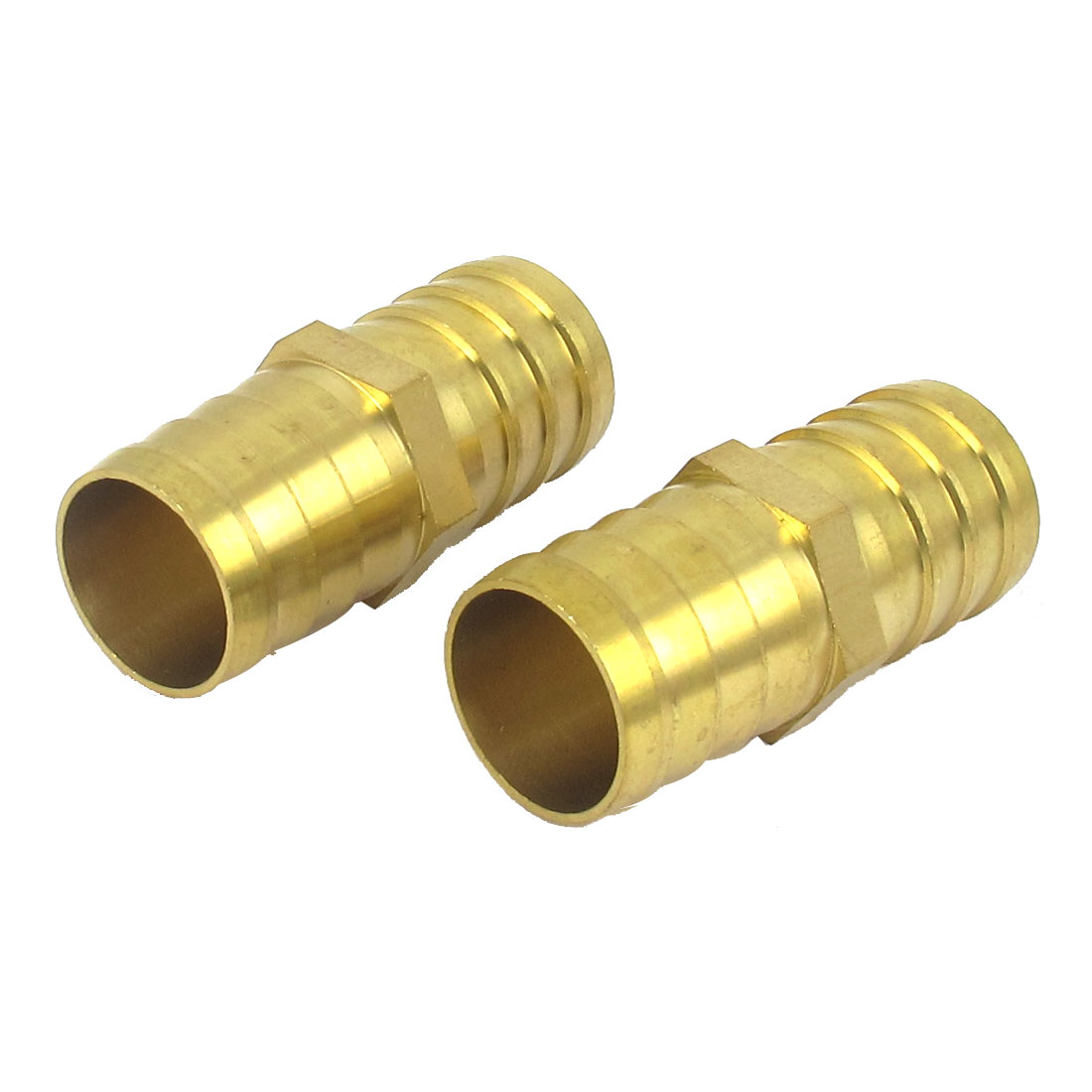 2 Pcs 25mm Outside Dia Pneumatic Air Water Gas Hose Piping Barb Coupler