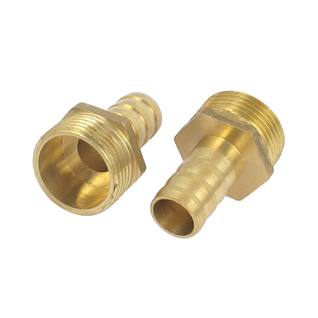 Brass 3/4BSP Male Thread to 14mm Hose Barb Straight Fitting Adapter Coupler 2PCS