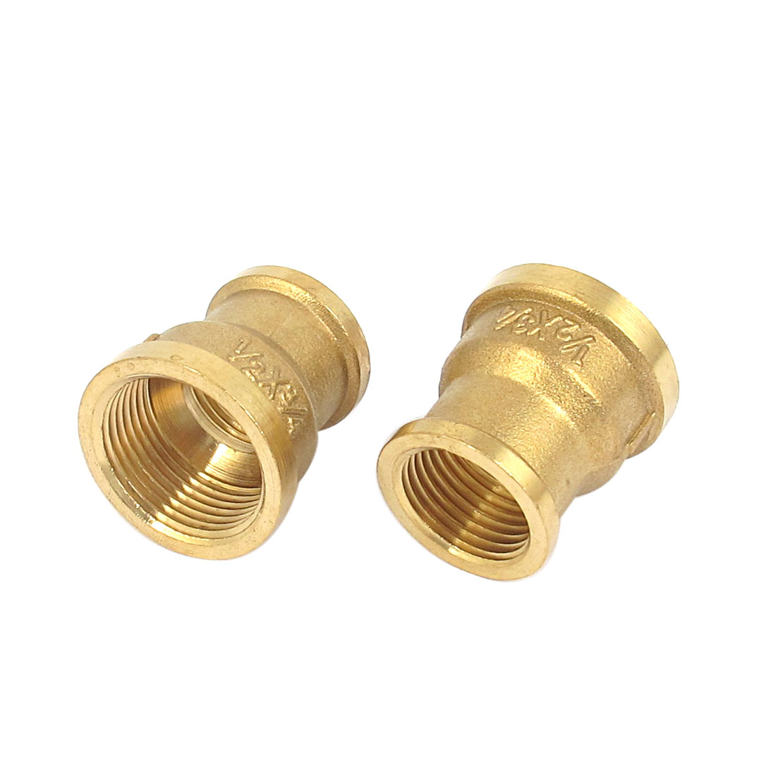 3/4BSP to 1/2BSP Female Thread Brass Water Pipe Coupling Fitting Connector 2pcs