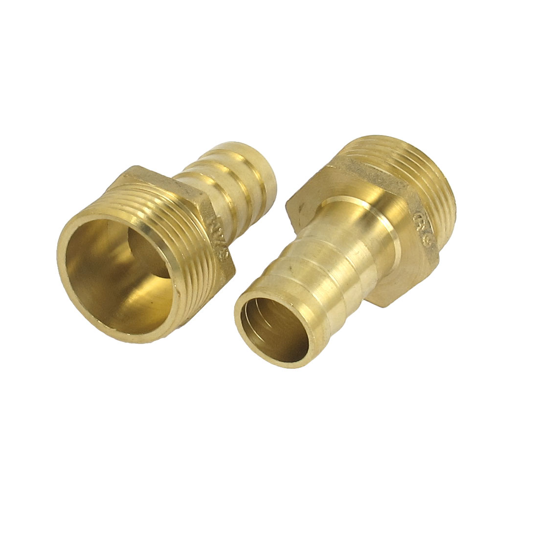 Brass 3/4BSP Male Thread to 16mm Hose Barb Straight Fitting Adapter Coupler 2PCS