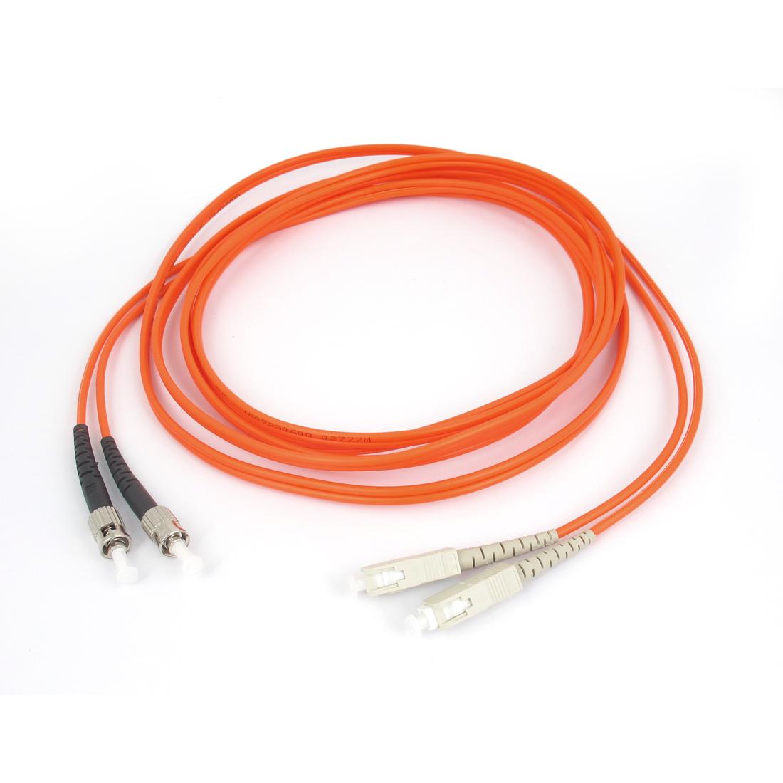 Jumper Cable Duplex Multimode ST-SC Fiber Optic Patch Cord 3 Meters Orange