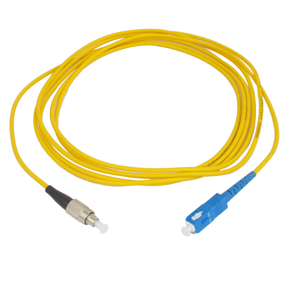 3.0M 10Ft Jumper Cable Simplex Singlemode ST to SC Fiber Optic Patch Cord Yellow