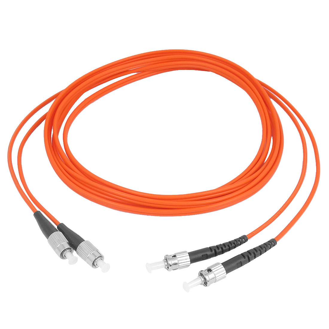 Jumper Cable Duplex Multimode FC-ST Fiber Optic Patch Cord 3 Meters Orange