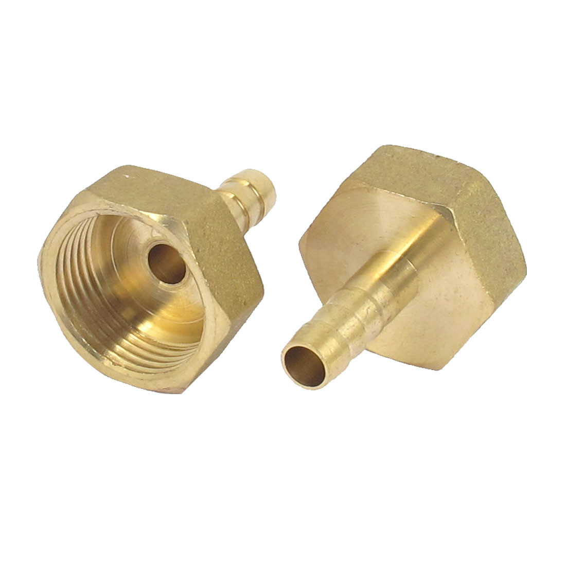 Brass 8mm Hose Barb 3/4BSP Female Thread Quick Joint Connector Adapter 2PCS