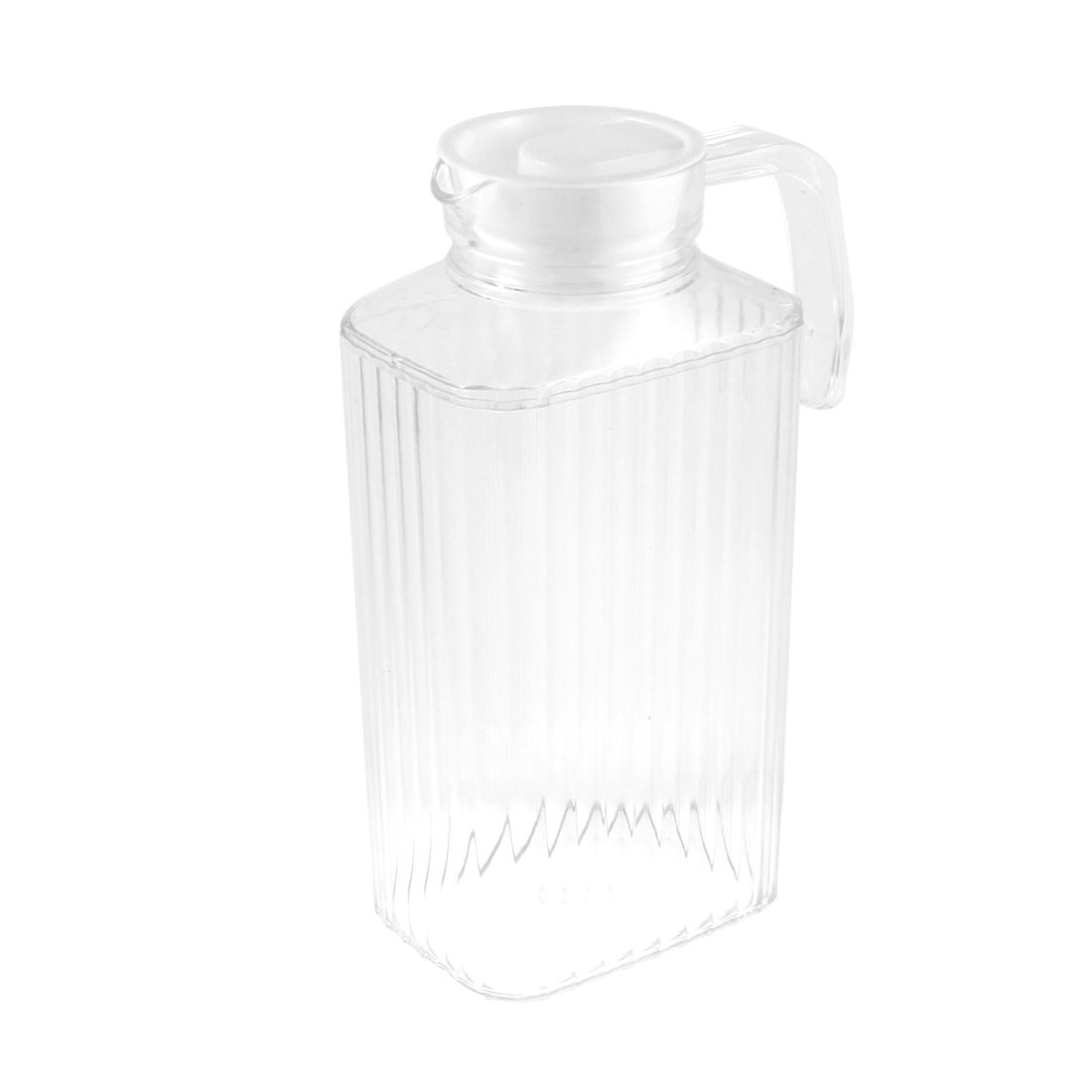 Plastic Stripes Pattern Cooling Cooler Water Pitcher Drink Holder 2000ml