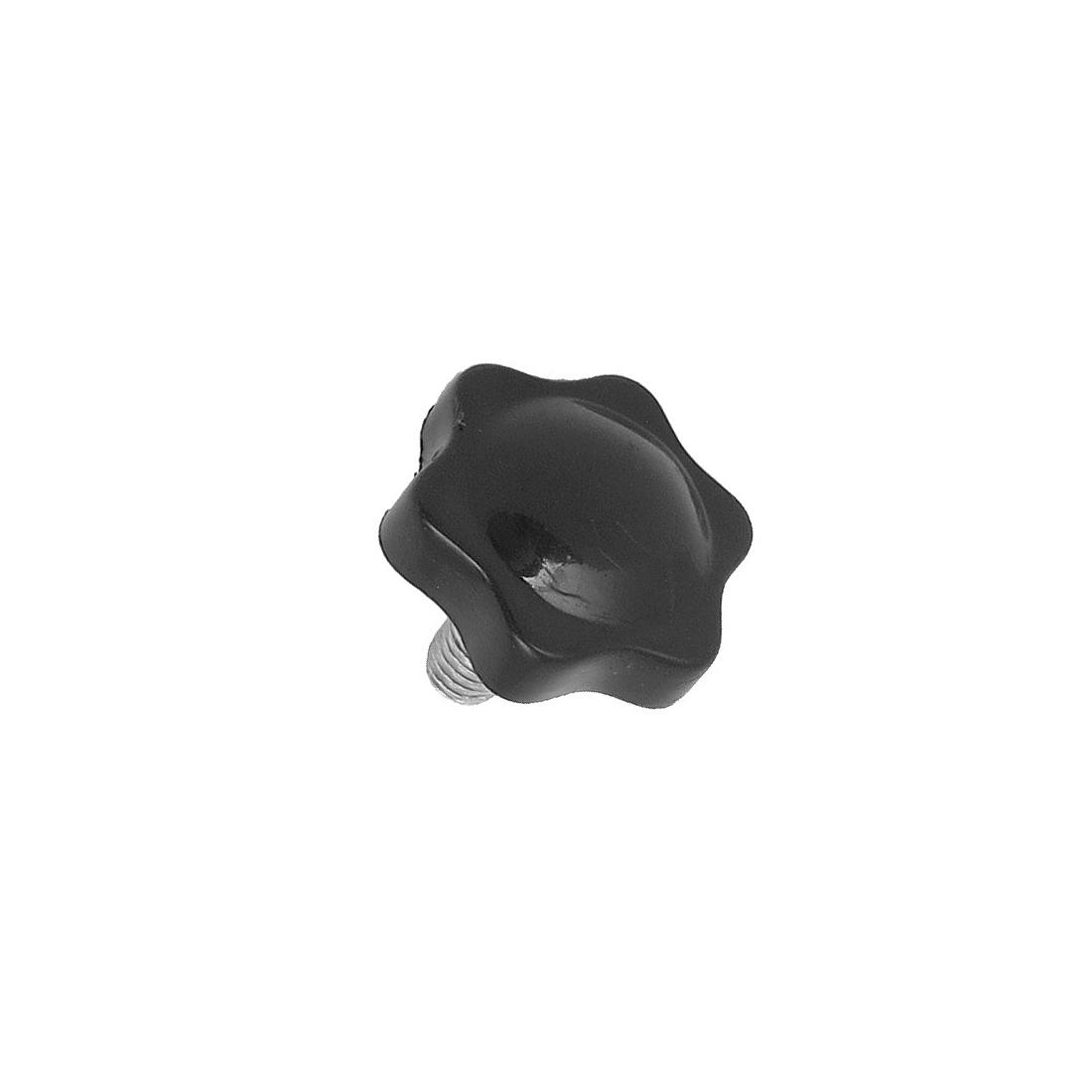 32mm Dia Black Star Shaped Head 8mm x 16mm Thread Clamping Screw Knob
